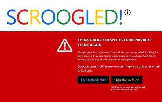 Microsoft greift Google erneut in einer Web-Kampagne an