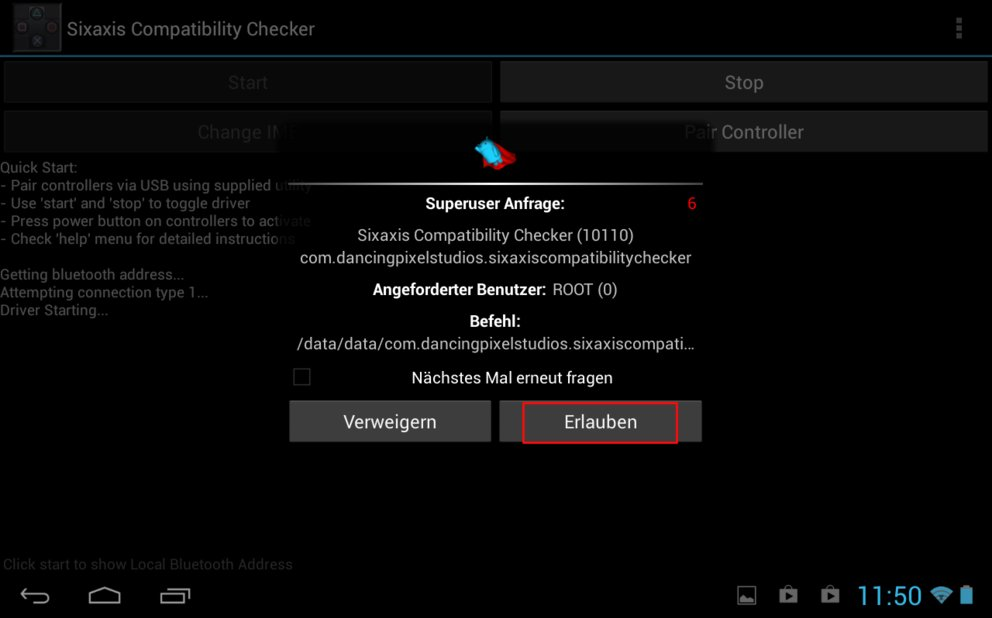 Sixaxis Android App Anleitung