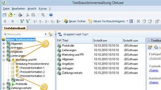 Textbausteinverwaltung Deluxe
