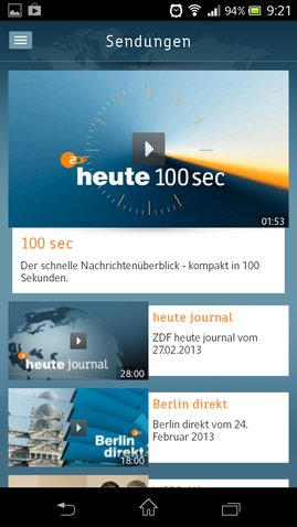 ZDFheute Android-App