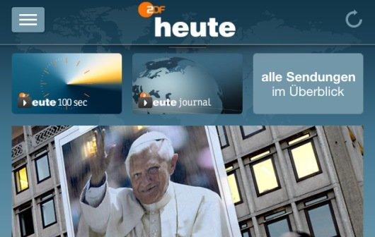 ZDFheute: Kostenlose iPhone-App mit Livestream, Mediathek und Nachrichten