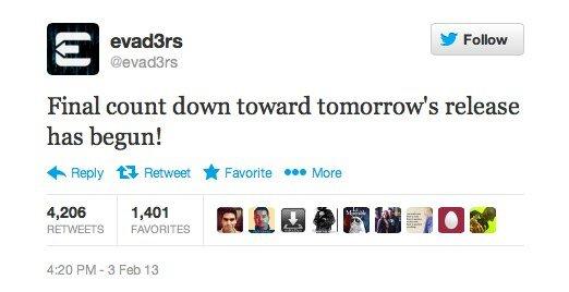 evad3rs Tweet