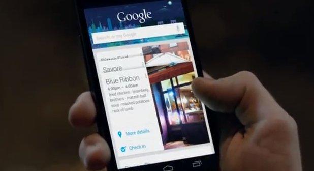 Google Now: der hilfreiche persönliche Assistent im Werbeclip