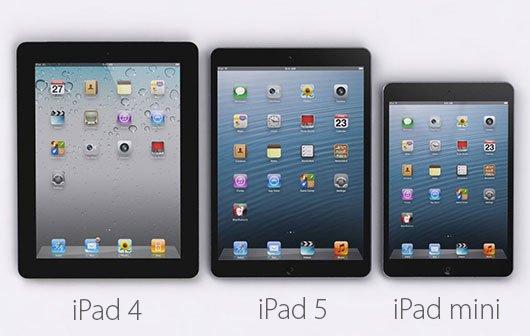 Mockup: iPad 4 - iPad 5 - iPad mini