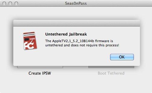 seas0npass 0.8.9 - Untethered Jailbreak für Apple TV 2