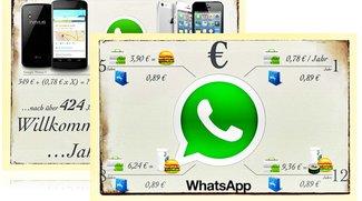 WhatsApp: Kosten für iOS und Android im Vergleich (Infografiken)