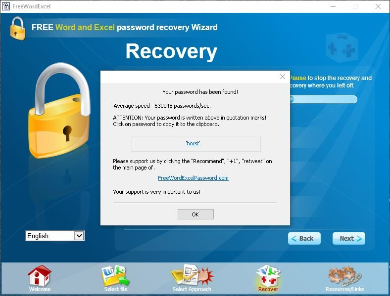 Das Word-Passwort wurde gehackt