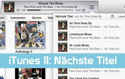 """Mit iTunes 11 als DJ auflegen: """"Nächste Titel"""" richtig nutzen"""