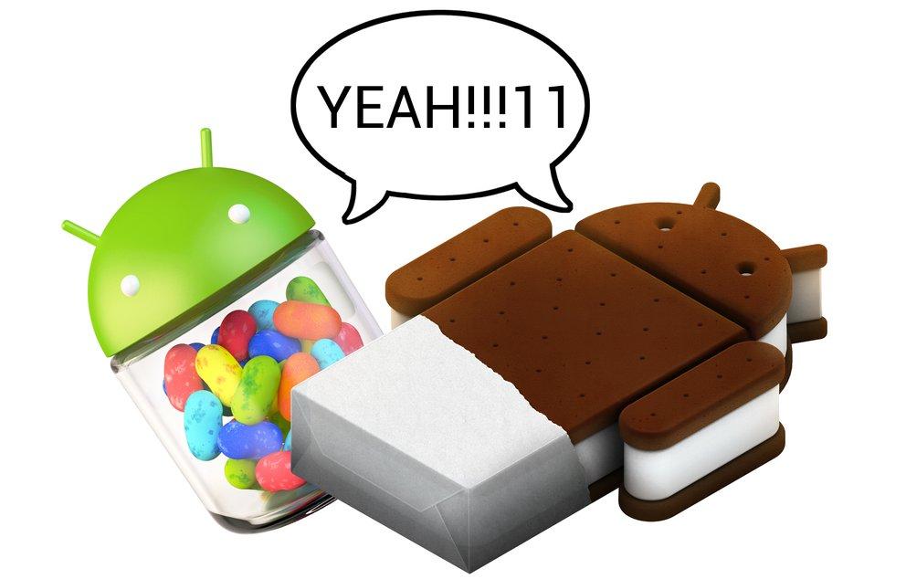 Android 4.x ist endlich die meistgenutzte Version