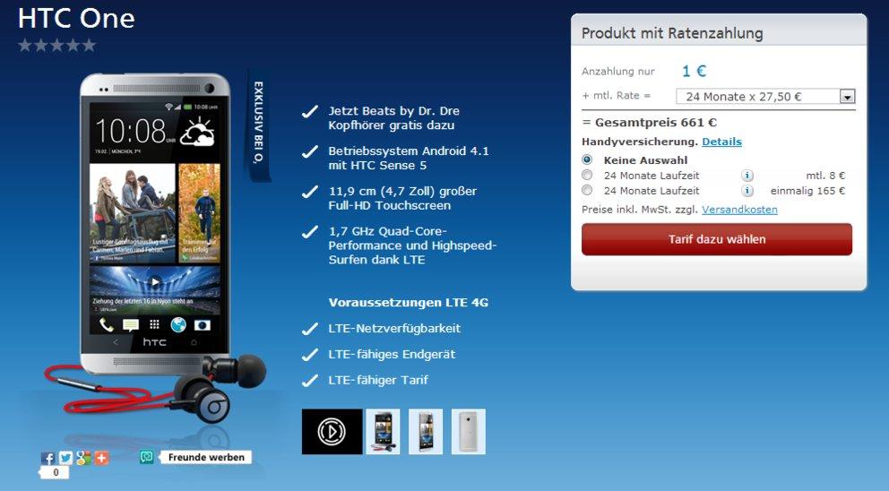 HTC One bei O2 verfügbar, erste Geräte werden ausgeliefert
