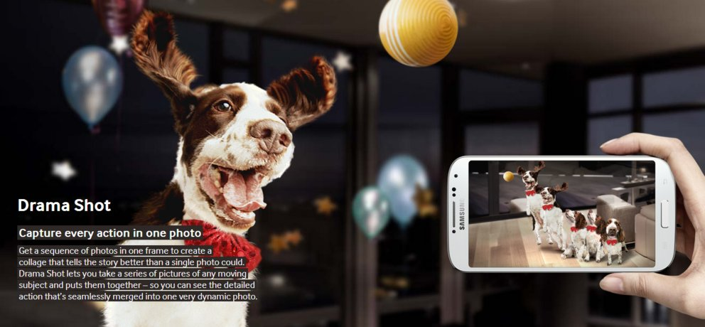 samsung galaxy s4 kamera features