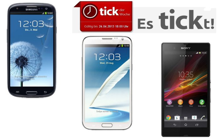 Allnet-Flat mit Samsung Galaxy S3, Galaxy Note 2 LTE oder Sony Xperia Z