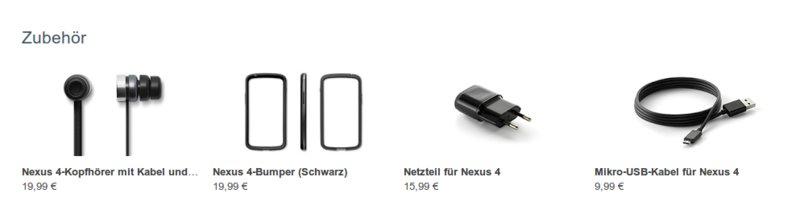 Nexus 4 Zubehör