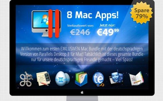 Letzte Gelegenheit: 2 Software-Bundles für Mac, inklusive Parallels Desktop 8