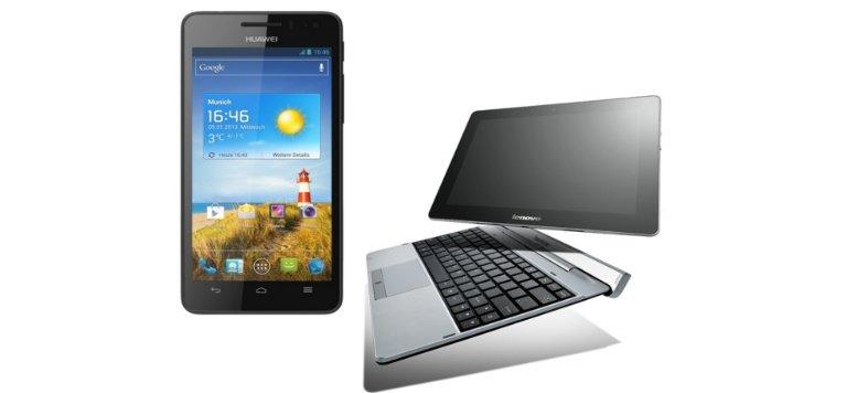 Osterrabatte: Huawei Ascend G 615 und Lenovo Idea Tablet S2110A + Tastatur Dock