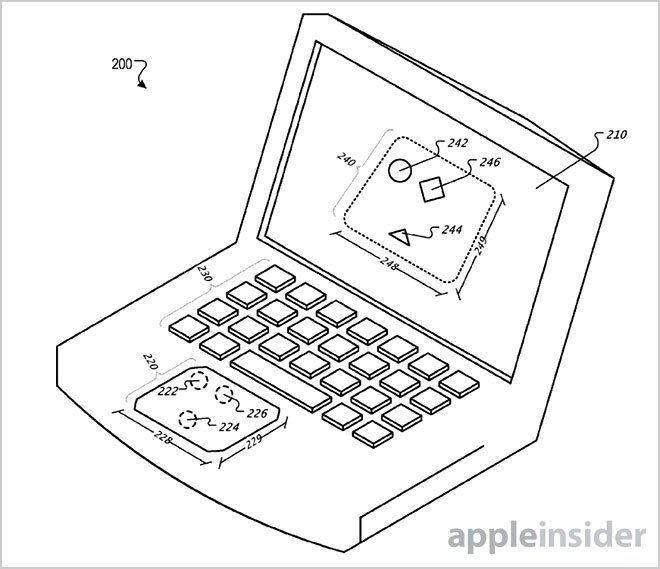 "Apple-Patent zeigt MacBook mit ""virtuellem Trackpad"" auf dem Display"