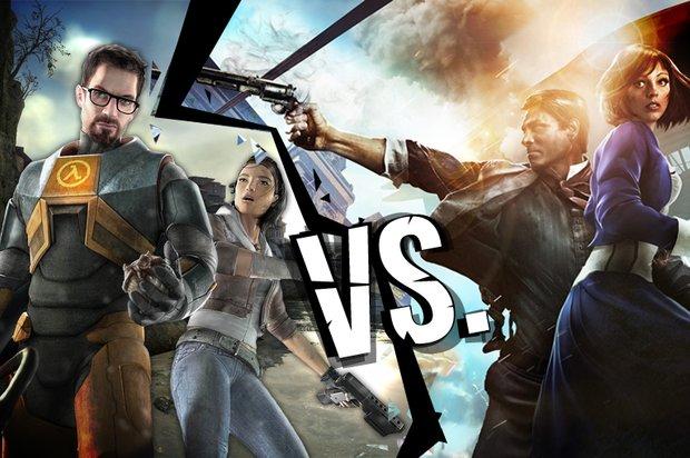 BioShock Infinite vs. Half-Life 2: Das Duell der Mega-Shooter
