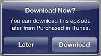 iTunes in der Cloud: Neue Option für späteren Download