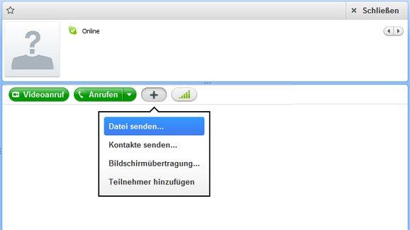 Skype Dateiübertragung