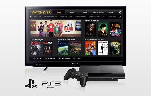 Watchever: Streaming-Dienst jetzt auch auf der PS3 verfügbar
