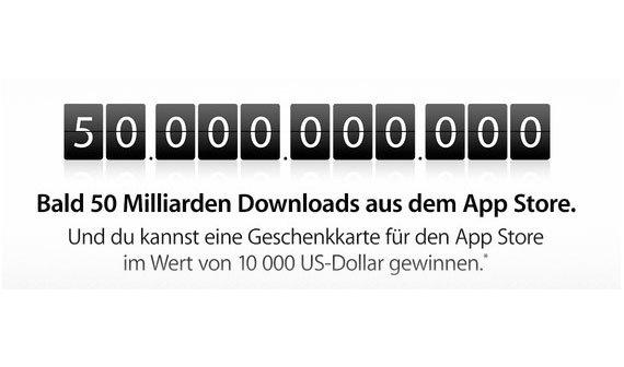 App Store: Countdown auf 50 Milliarden App-Downloads