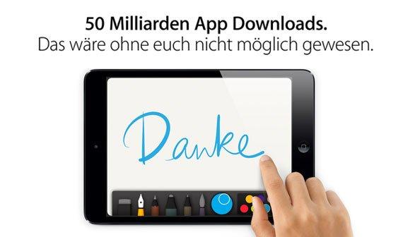 Apples App Store erreicht 50 Milliarden Downloads