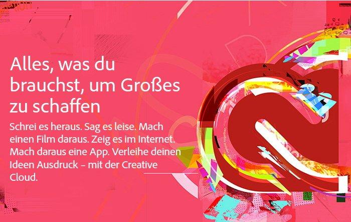 Adobe Creative Cloud Student and Teacher Edition für 19,99 Euro im Monat