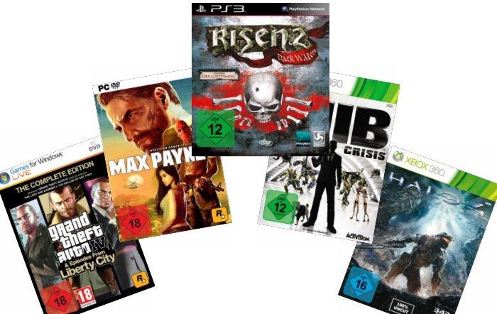 Amazon Aktion: 3 Games für 49,00 Euro