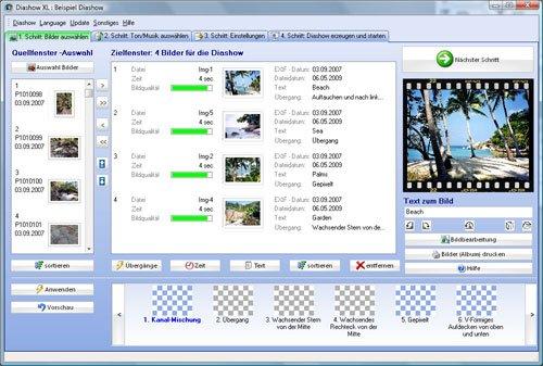 Diashow XL Erstellung einer Diashow