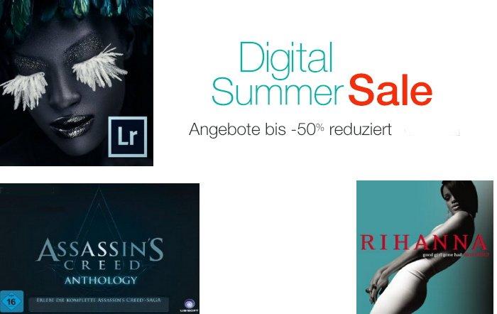 Digital Summer Sale mit bis zu 50 % Rabatt auf Amazon
