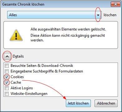 Firefox keine Rückmeldung