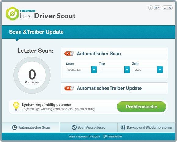 Free Driver Scout Scan und Treiber Update