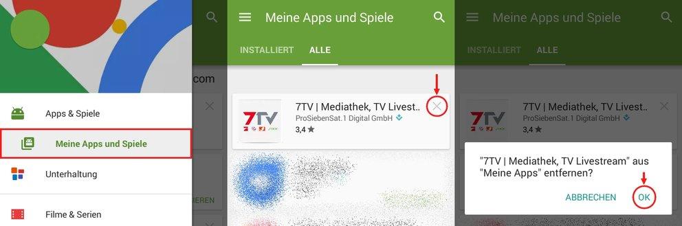Google Play Store Meine Apps löschen