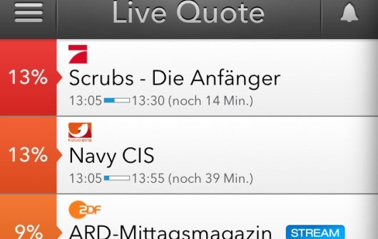 Live TV App für iPhone & iPad bietet Live-Stream und Quote