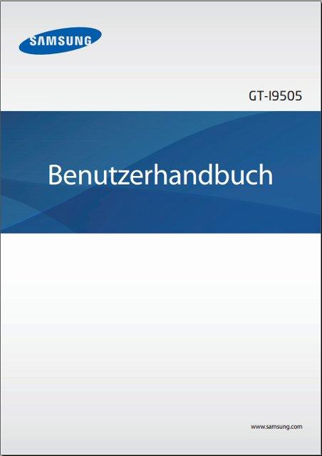 Samsung Galaxy S4 Handbuch Cover