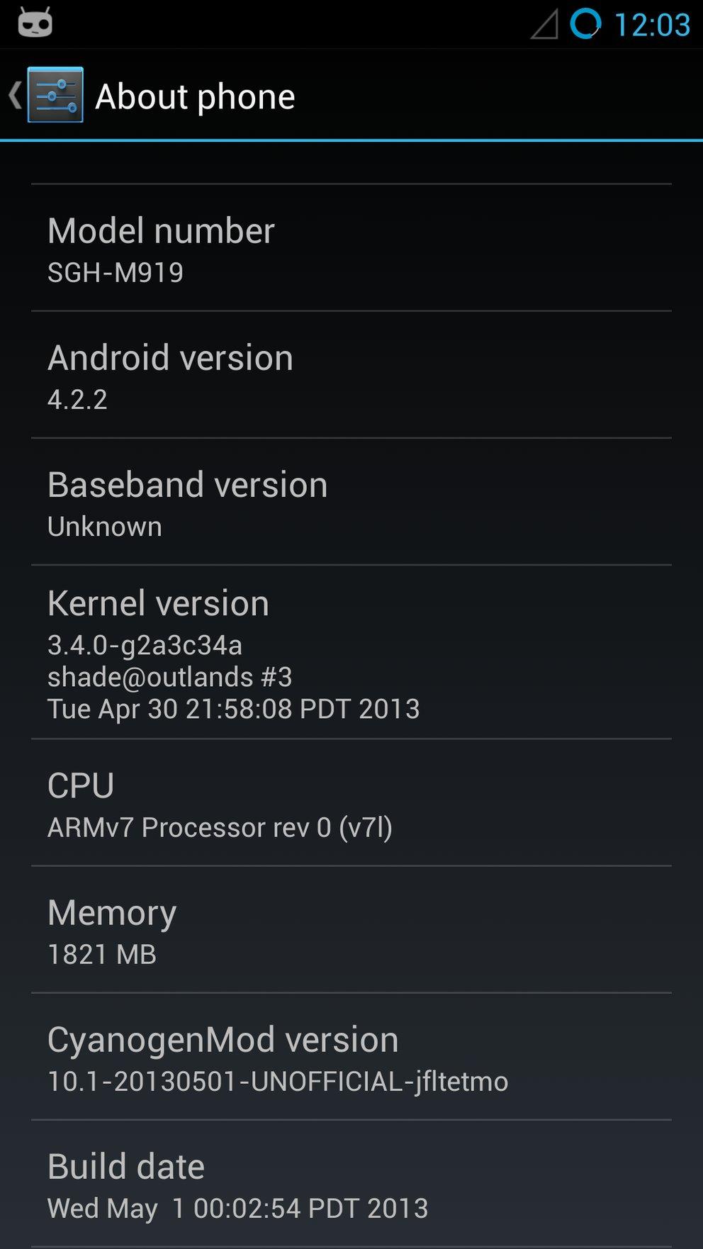 CM 10.1 Samsung Galaxy S4