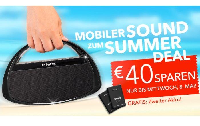 40 Euro sparen: tizi beat bag mit Zusatzakku im Sound Summer Deal