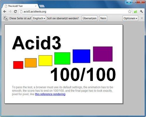 Google Chrome Acid3-Test