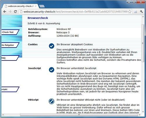Chrome Test Security Check