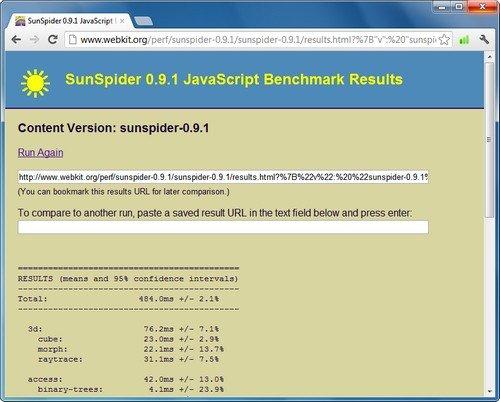 Der SunSpider-Test