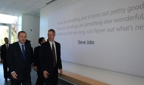 Türkischer Premier Erdoğan zu Besuch bei Apple in Cupertino