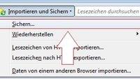 Firefox Lesezeichen exportieren: Für andere Rechner speichern