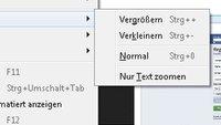Mit dem Firefox Zoom die Größe von Webseiten anpassen