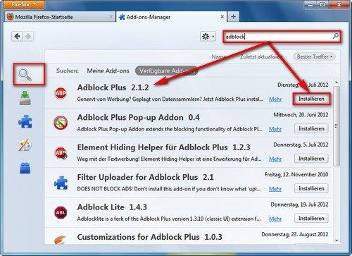 Firefox Adblock Plus installieren