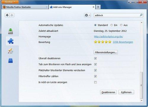 Firefox Adblock Plus einrichten