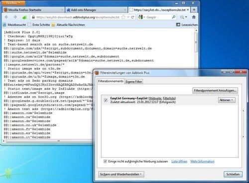 Firefox Adblock Plus Filter