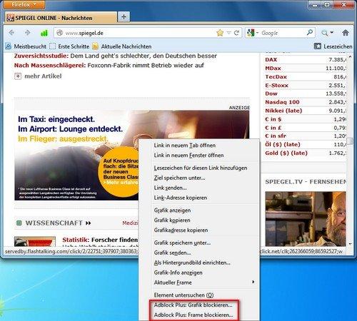 Firefox Adblock Plus eigene Filter