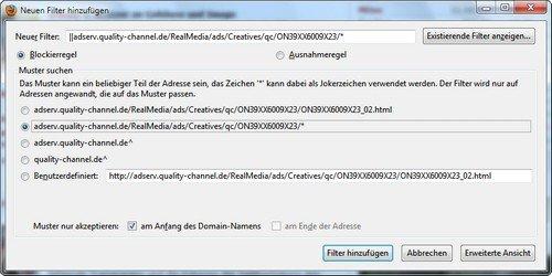 Firefox Adblock Plus mehr filter
