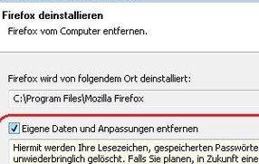 Firefox deinstallieren: So wird's gemacht