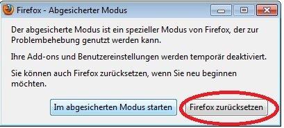 Firefox Einstellungen zurücksetzen